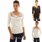 PattyBoutik Floral Lace Mesh Inset Overlay Sweetheart Long Sleeve Top
