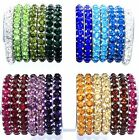 Indian Crystal Bangle Bracelet Green Blue Clear Maroon Champagne Clear Purple