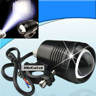 1x 30W U2 CREE LED Flash Spot  Motorcycl Head Light 1800LM Waterproof Black