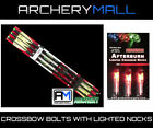 6 VICTORY CROSSBOW ARROWS ( 20 IN ) AND RED 3 LIGHTED NOCKS