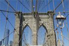 Poster / Leinwandbild Brooklyn Bridge detail, Brooklyn, New York ... - A. Hall