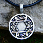 8 Pointed Astrological Dodekagram Double Hexagram Star of David Pewter pendant