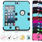 Hybrid Impact Hard & Soft Rubber Armor Case Cover For Ipod Touch 5th 6th Gen