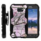 For Samsung Galaxy S6 Active Rugged Holster Belt  Stand Case PINK HUNTER CAMO