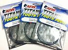3 LEADER WIRE AFW TITANIUM SINGLE STRAND TOOTH PROOF FISHING BLACK 15 ft.