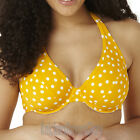 Panache Cleo Swimwear Betty Plunge Halter Bikini Top Yellow CW0034 Select Size