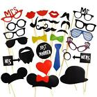 31/58 Pcs DIY Masks Photo Booth Props Mustache On A Stick Wedding Birthday
