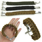 New Survival Bracelet Outdoor Paracord Weave 7-strand Stainless Steel Shackle