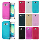 For Samsung Galaxy A3 Hybrid Metal Aluminum Brushed  + PC Hard Back Case Cover
