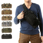 Outdoor Camping Bicycle Camo Multifunction Handlebar Bag Waist Pack Shoulder Bag