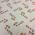 Printed Polyester Cotton Fabric- Christmas Candy Stick