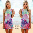 Women Sexy Summer bodycon Evening Cocktail Party Sleevesless Floral Mini Dress