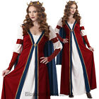 CL508 Renaissance Queen Maid Marian Medieval Halloween Fancy Dress Up Costume