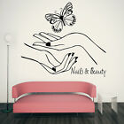 NAILS & BEAUTY SALON WALL ART STICKER TRANSFER POLISH TIPS MANICURE VINYL DECAL