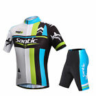 SANTIC Cycling Suits Short Sleeve Jersey  & Shorts Sport Suits - Shark II