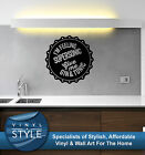 OASIS SUPERSONIC BOTTLE TOP DECAL DECOR STICKER WALL ART GRAPHIC VARIOUS COLOUR