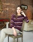Invisible World 100% Cashmere Boatneck Lightweight Pullover Sweater