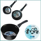 "Sapphire Non-stick Milk Boiling Pan Deep Hot Pot 15,18cm Black Soup Cream 6"" 7"""
