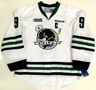 TYLER SEGUIN PLYMOUTH WHALERS WHITE EDGE AUTHENTIC REEBOK OHL JERSEY STARS