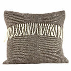 Romney Marsh Wool Cushion - Black Thorn