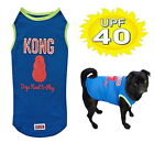 Dog Singlet KONG Blue 40+ UV Sun Protection XS S M L 2XL 3XL T Shirt Active Pet