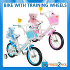 Childrens Kids Girls Push First Bicycle Tricycle Bike with Training Wheels Trike