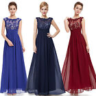Ever Pretty Women Long Sleeveless Lacy Evening Formal Party Prom Dress 08441