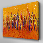 AB457 Orange Abstract Brush Strokes Canvas Wall Art Ready to Hang Picture Print