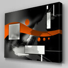 AB587 Orange Abstract Flow Shapes Canvas Wall Art Ready to Hang Picture Print