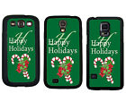 CHRISTMAS RUBBER CASE FOR SAMSUNG S4 S5 S6 EDGE NOTE 3 4 5 CANDY CANE GREEN