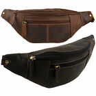 NEW Oil LEATHER Waist BUM BAG by Visconti Fanny Pack Top Quality Travel Handy