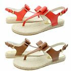 Michael Kors Womens Meg Thong Espadrille Bow Ankle Strap Fashion Flats Sandals