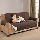 Внешний вид - Reversible Furniture Protector Quilted Brown Slipcover Sofa Love Seat Cover NEW!
