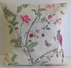 BRAND NEW LAURA ASHLEY FABRIC CUSHION COVERS SUMMER PALACE PLUM  LILAC CREAM