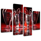 MS217 Liverpool FC 5 European Championships Canvas Art Multi Panel Split Picture