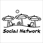 Social Network Sticker / Decal - Life is Good - Car Window Tablet Computer