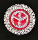PEACE SIGN-RED - Rhinestone encrusted Purse Hook/Hanger
