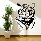 Tiger Silhouette Wall Art Vinyl Stickers African Lion Transfers Mural Decals