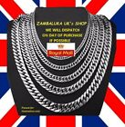 3 TO 9MM MEN'S STAINLESS STEEL SILVER 316L CHAIN NECKLACE UK SELLER  DESIGN NO 3