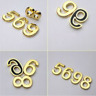 Image of Metal Effect 0-9 House Numbers plaque  Sticker Modern Door Sign Self Adhesive