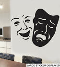 Theatre Mask Wall Vinyl Stickers West End Masquerade Arts Musical Music Decals