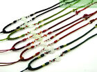 Chinese Jade Coins Knotted Silk Cord String Necklace for Jade pendant