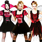 Vampire + Tights Ladies Fancy Dress Halloween Vampiress Womens Costume Outfit