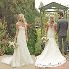 New White/ivory Lace Wedding Dress Bridal Gown Custom Size 6 8 10 12 14 16 +++++