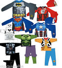 Boys Marvel Super Heroes Pyjamas Hulk Iron Man Captain America + Superman Batman