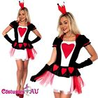Ladies Queen of Hearts Costume Halloween Hens Night Party Fancy Dress Costumes