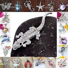 1pc Cat Seastar Animal Silver Plated Rhinestone Pendant fit Necklace Womens Gift
