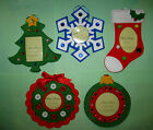 Photo Holder Christmas ornament picture stocking tree snowflake wreath hang felt