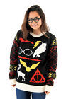 Adult Movie Harry Potter Owl Deathly Hallows Sign Black Ugly Christmas Sweater