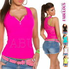 New Sexy Womens Lace Top Shirt Singlet Blouse Casual Party Size 6 8 10 XS S M
